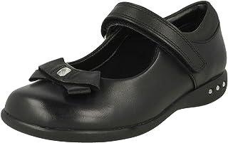 Clarks 女童 Prime Skip 踝带芭蕾平底鞋