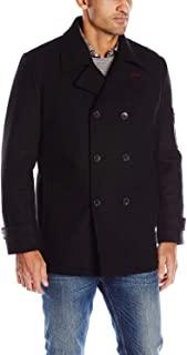IZOD 男士双排扣羊毛大衣