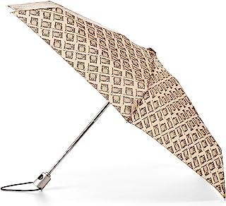 TOTES NeverWet 自动打开迷你雨伞,99.06 厘米覆盖,黑色/棕色猫头鹰,