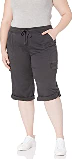 UNIONBAY 女式加大码哈里针针织腰裤