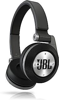 JBL Synchros E40BT 具有JBL经典声音的头戴式蓝牙耳机,具有Purebass性能,无线Shareme音乐共享和卓越的贴合性,黑色