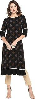 Janasya 女式黑色涤纶绉纱无领长袖衬衫