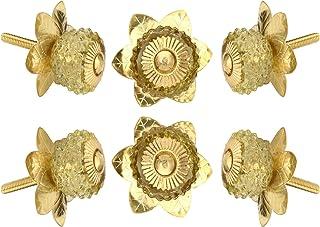 Perilla Home 的 6 件套水晶玻璃旋钮厨房橱柜橱柜橱柜玻璃门把手梳妆台衣柜和抽屉拉动……(黄色)