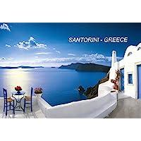 希腊冰箱冰箱冰箱磁铁 City: Santorini-A4
