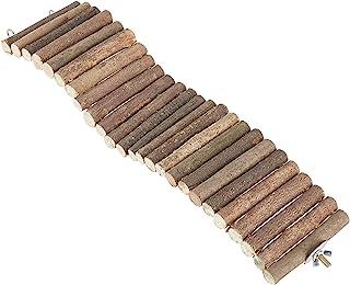 AHANDMAKER 宠物爬梯玩具,天然木制梯子仓鼠玩具摇摆梯子玩具,彩色松鼠悬挂绳桥天然木材长爬梯,适用于仓鼠金熊