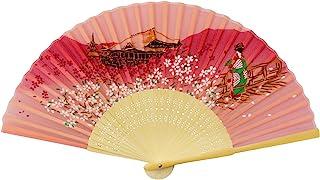 松弛工艺 扇子 (丝绸) 舞妓 粉色