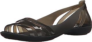 Crocs 女士 Isabella Huarache 2 平底芭蕾舞鞋