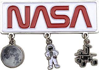 NASA 太空新奇冰箱磁贴 | 3 个魅力磁贴,印有宇航员、月亮和月亮漫画 | 适合男士、女士和儿童的完美纪念礼物系列