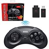 Retro-Bit Sega Genesis 2.4 GHz 无线控制器 8 键式拱门垫,适用于 Sega Genesi…