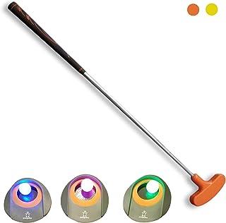 Penguino 儿童高尔夫俱乐部套装,儿童迷你高尔夫玩具装备,带推杆,3 个高尔夫球孔,3 个夜光高尔夫球,室内户外草坪运动玩具,适合男孩和女孩
