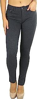 ToBeInStyle 女式五口袋低腰弹力裤
