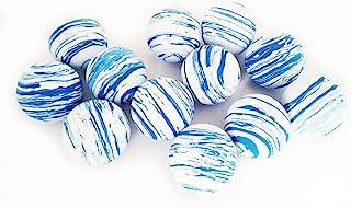 LBOF 猫玩具 室内猫互动球 蓝色星球图案 12 个装 1.57 英寸