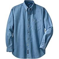 Port & Company - 长袖超值牛仔衬衫。 SP10