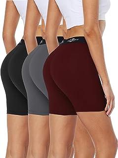 Cadmus 女式高腰锻炼跑步压缩短裤口袋