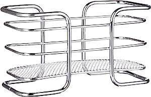 Inspired Living by Mesa Criss 十字水果碗,2 层篮子 银色 Napkin Holder Platform ME9448