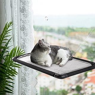 猫窗吊床,节省空间,窗户猫吊床,坚固耐用,承重强,窗户吊床猫栖息地,双侧使用,带清洁刷