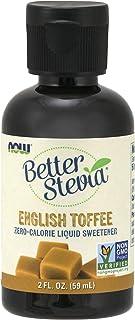 NOW Foods - 更好的Stevia液体糖精英国奶糖 - 2盎司