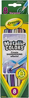 Crayola Metallic FX 彩色铅笔 - 8 支铅笔