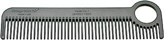 芝加哥 Comb 型号 1 碳纤维,美国制造,超光滑、坚固、轻盈、防静电、耐热、5.5 英寸 (14 cm) 长,日常使用,可用于口袋和旅行梳子