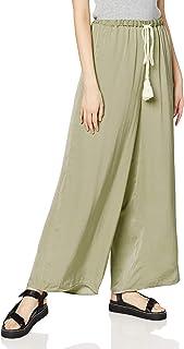 [argrid] 裤子 【La】羊毛 复古缎面裤 女士 112020728601 * 日本 F (FREE サイズ)