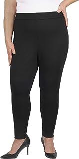 Jules & Leopold 女式加大码罗马布紧身裤,带侧拉链,黑色,2X