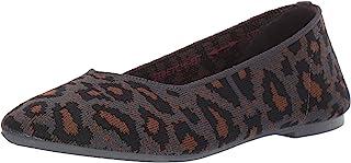 Skechers Cleo-Claw-Some-Leopard Print Engineered Knit Skimmer 女士芭蕾平底鞋