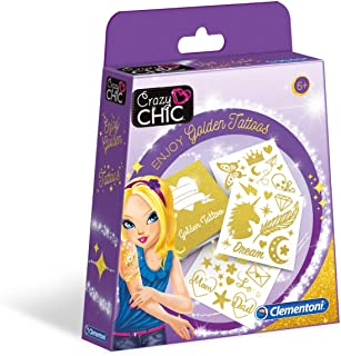 Clementoni 18581 疯狂别致金色纹身艺术和工艺品套装 适合 6 岁及以上儿童