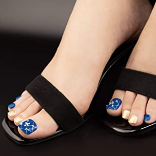 MUSE & Co Dazzling Collection 36 个钉子,蓝色闪光 Pedi