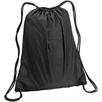 GeorgiaBags Pol20 大号涤纶抽绳背包,黑色,运动,健身袋 黑色 2组