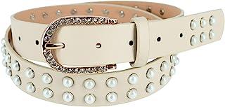 CTM 女式珍珠镶嵌水钻皮带扣