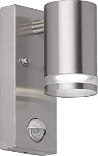 WOFI 外墙灯,钢,GU10,11W,不锈钢拉丝,11 x 6.8 x 16.3厘米
