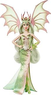 Barbie Signature Mythical Muse 幻想龙皇后娃娃,15 英寸(约 38.1 厘米),可收藏,带柔和的*和翅膀
