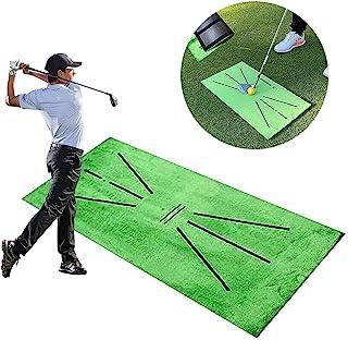 高尔夫训练*垫 - 迷你高尔夫练习草地垫 - 高尔夫挥杆检测垫推*迷你高尔夫练习辅助游戏 - 高尔夫击球垫适用于家庭、办公室卧室使用 - 30.48 厘米 X 60.96 厘米