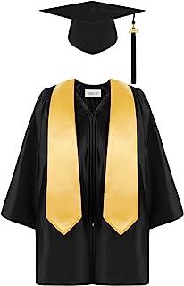 Aneco 幼儿园毕业礼服帽套装,带 2021 流苏和毕业腰带,适合儿童尺寸