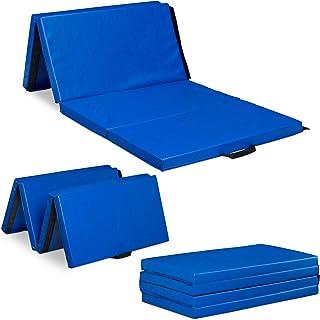 Relaxdays 健身垫 180 × 80 可折叠 5 厘米厚 可扩展 软垫 适用于家庭、手柄 防水 颜色可选