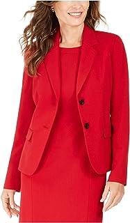 Kasper 女式红色西装工作外套尺码 2P