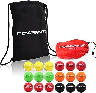 PowerNet 3.2 英寸垒球加重渐进式训练球套装带背包 | 全套重型球 18 支装 12 至 20 盎司 | 增强力量和肌肉 | 增强手眼协调能力