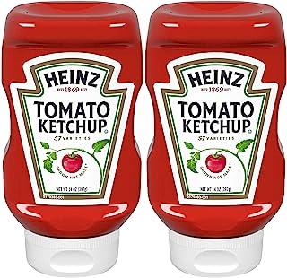 Heinz 经典挤压瓶番茄酱,14盎司(约396.9克)瓶,两件装