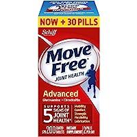 Move Free Advanced Plus MSM 和维生素 D,120 片 .200 Count 200.00