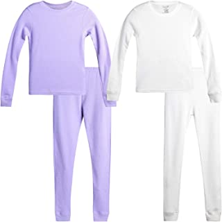 Rene Rofe 女孩华夫格保暖内衣上衣和裤子套装(2 套)