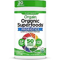 Orgain Organic 绿色粉末,原装-抗氧化剂,10亿个益生元,素食主义者,无乳制品,无麸质,犹太洁食,Non…