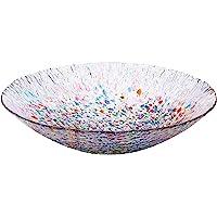 Aderia 津轻玻璃 花卉盆 直径 34.5厘米 日本制造 猫咪 約*大34.5×高さ9cm F-71841