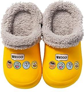 CERYTHRINA 小童衬里木底女童男童拖鞋轻便花园鞋一脚蹬棉质拖鞋