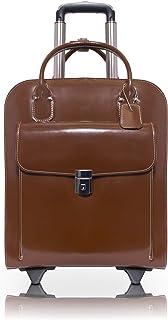 McKleinUSA 97694 皮革垂直轮式女士公文包适用于 15.4 英寸笔记本电脑 - 棕色