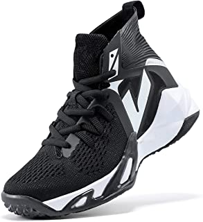 VITUOFLY 儿童篮球鞋男孩运动鞋女孩中帮学校训练鞋防滑户外运动鞋舒适男孩跑步鞋耐用小童