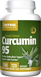 Jarrow FORMULAS姜黄素95,500毫克,120粒素食胶囊