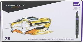 Prismacolor 3722 Premier 霹雳马 双头彩色马克笔,细和凿尖,72支