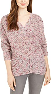 Style & Co V 领蝙蝠袖毛衣,异想天开的绒球粉色 XL 码