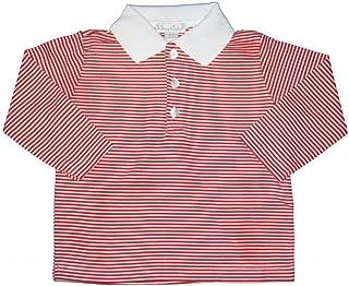 Kissy Kissy 男婴必备长袖条纹 Polo 衫