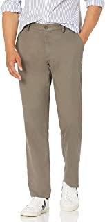 Amazon Essentials 男式直筒抗皱无褶斜纹棉布裤